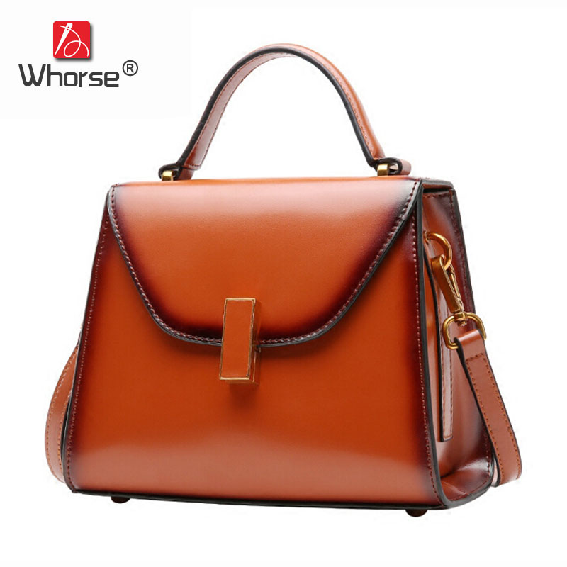 European and American Style Genuine Leather Women Saffiano Bag Cowhide Handbag Crossbody Shoulder Messenger Bags Small W08950