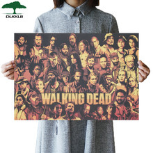 DLKKLB The Walking Dead Vintage Poster Classic Hot TV Manga Style Kraft Paper Retro Poster Bar Cafe Decor Painting Wall Sticker(China)