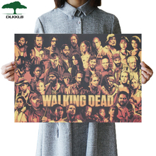 Cartel clásico de estilo clásico de TV Manga caliente DLKKLB The Walking Dead, póster Retro de papel Kraft, Bar, café, decoración, cuadro adhesivo para pared