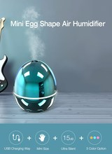 3 Colors USB Charging Mini Egg Shape Silent Car Home Air Purifier Aromatherapy Essential Oil humidifier Air Humidifier