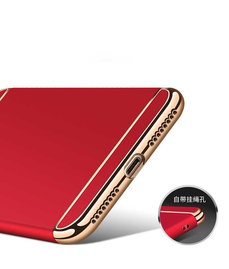 Для Huawei Honor V9 Honor8 mate 7 8 9 pro 3 в 1 чехол Роскошный чехол для телефона позолоченный жесткий чехол антидетонационный