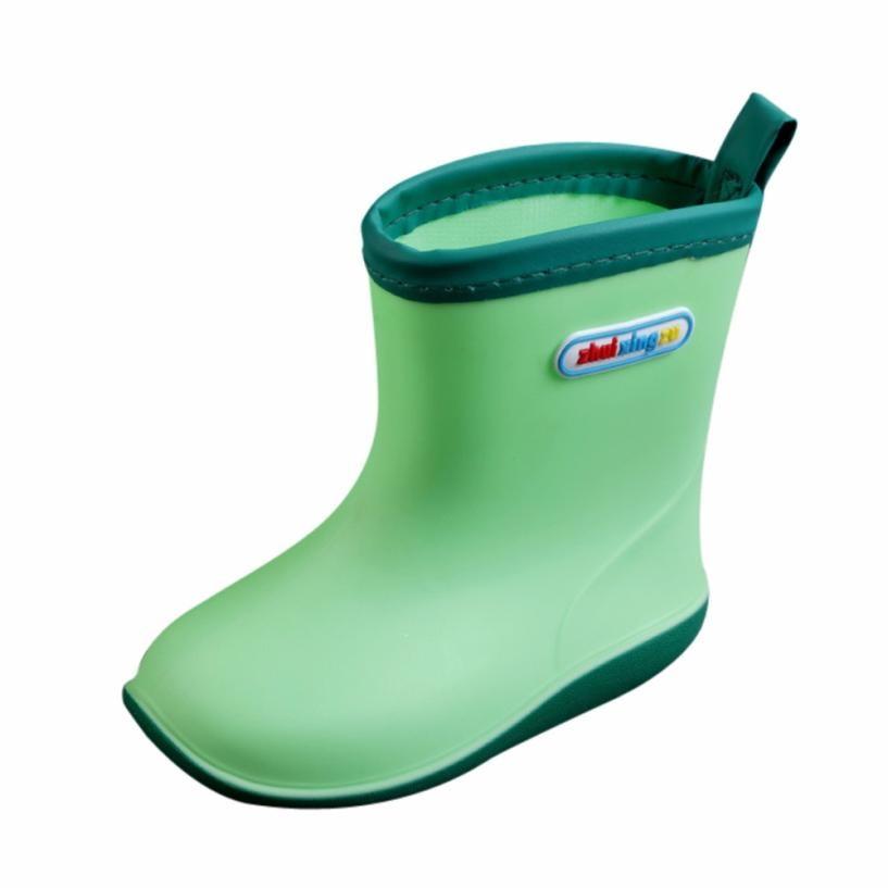 BMF TELOTUNY Fashion Waterproof Child Soild Rubber Infant Baby Rain Boots Kids Rain Shoes Casual Rubber Boots Apr20 Drop Ship