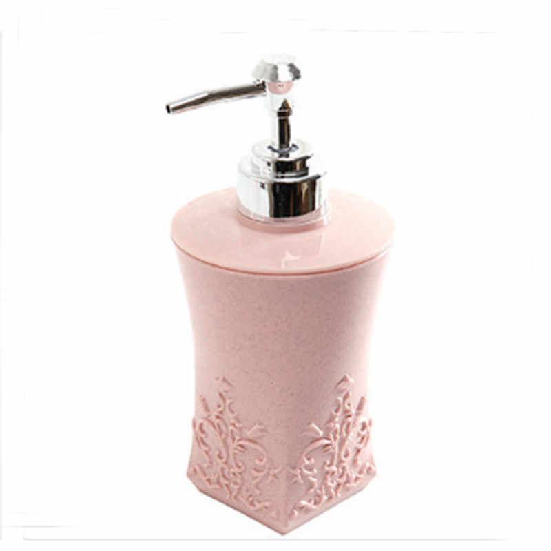1 PC 400 ml rzeźbiony kwiat styl butelki z pompką okrągły kwadrat tworzywo pp ciała balsamy płynne szampony odżywka butelki do przechowywania