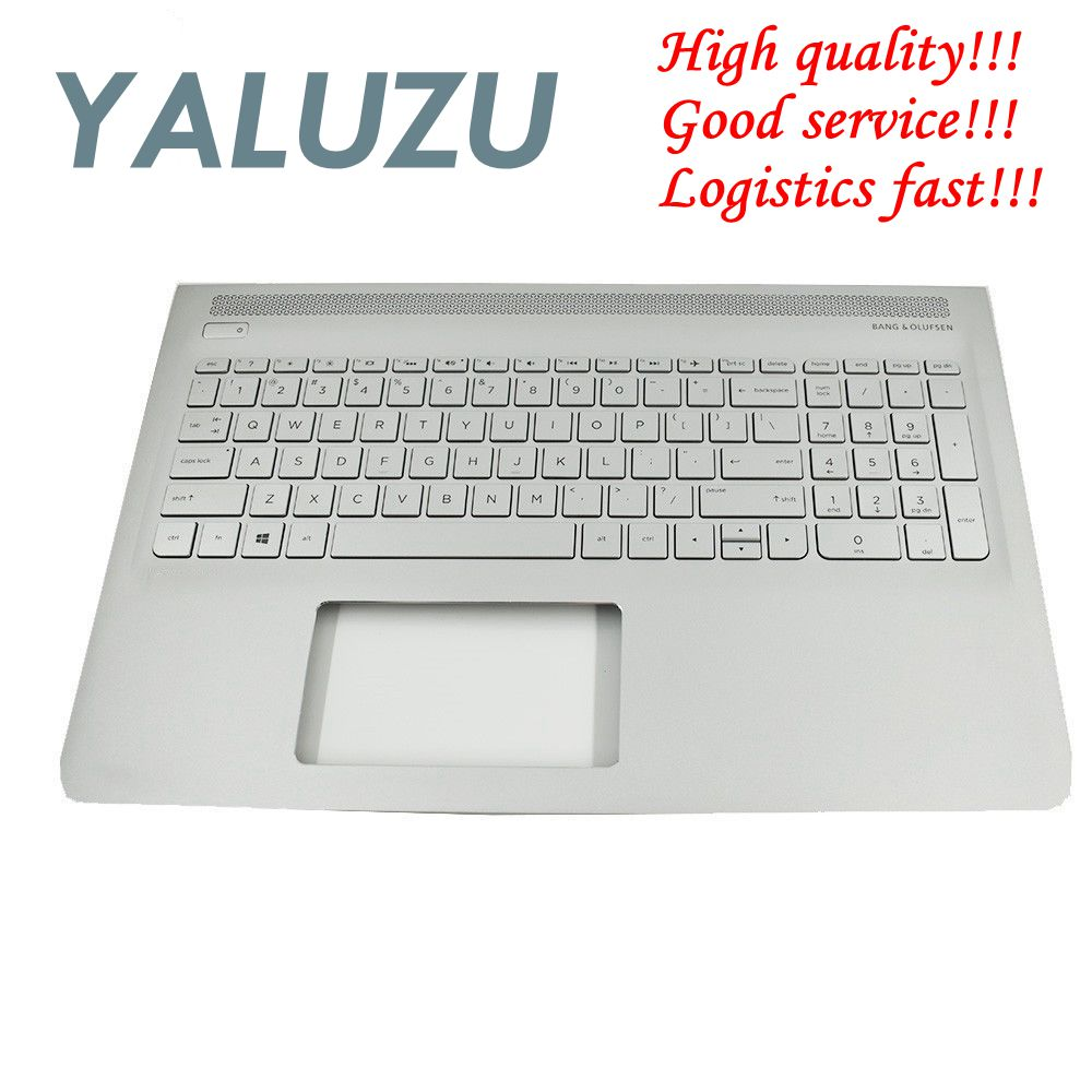 YALUZU new for HP ENVY 15-AS 15-as000 Silver Palmrest Backlit Keyboard 857799-001 6070B1018801 upper case cover US KB bezel