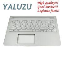 YALUZU  nuevo para HP ENVY 15-AS 15-as000  Teclado retroiluminado con reposamanos plateado 857799-001 6070B1018801  carcasa superior  cubierta US bisel KB