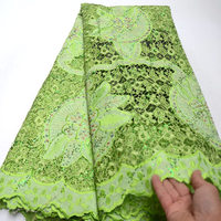 Hot selling nigerian lace fabric tulle lace sequins embroidery African french lace fabric 5 yards per piece QG638