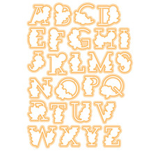 YaMinSanNiO Floral Alphabet Letter Dies ABC Metal Cutting and Stamps for Scrapbooking Decorative Crafts Paper Cards Masking