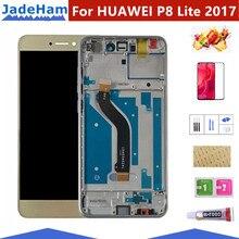 Screen+Frame For HUAWEI P8 Lite 2017 Lcd Display Screen Replacement For Huawei P9 Lite 2017 LCD SCreen PRA-LA1 PRA-LX1 for huawei p8 lcd screen 100