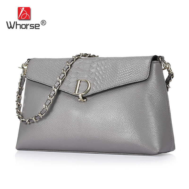 Brand Luxury Serpentine Design Genuine Leather Women Messenger Bags Chain Cowhide Ladies Crossbody Shoulder Bag For Woman W07120 waterproof ic card reader door access control system rs485 232 output