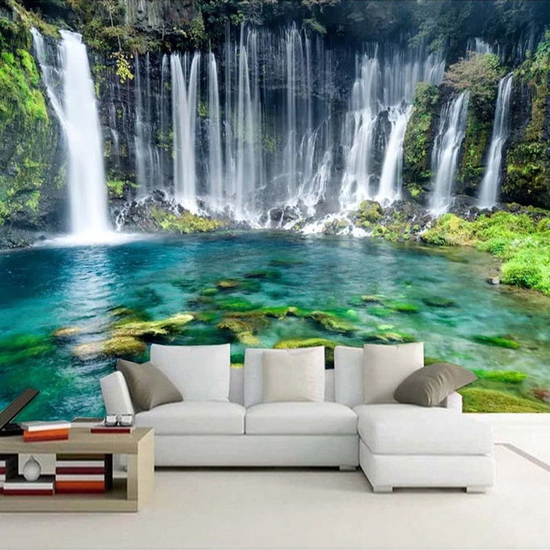 Custom 3D Photo Wallpaper Nature Landscape Beautiful Waterfall Large Murals Living Room Sofa Bedroom Background Wall Mural Pared