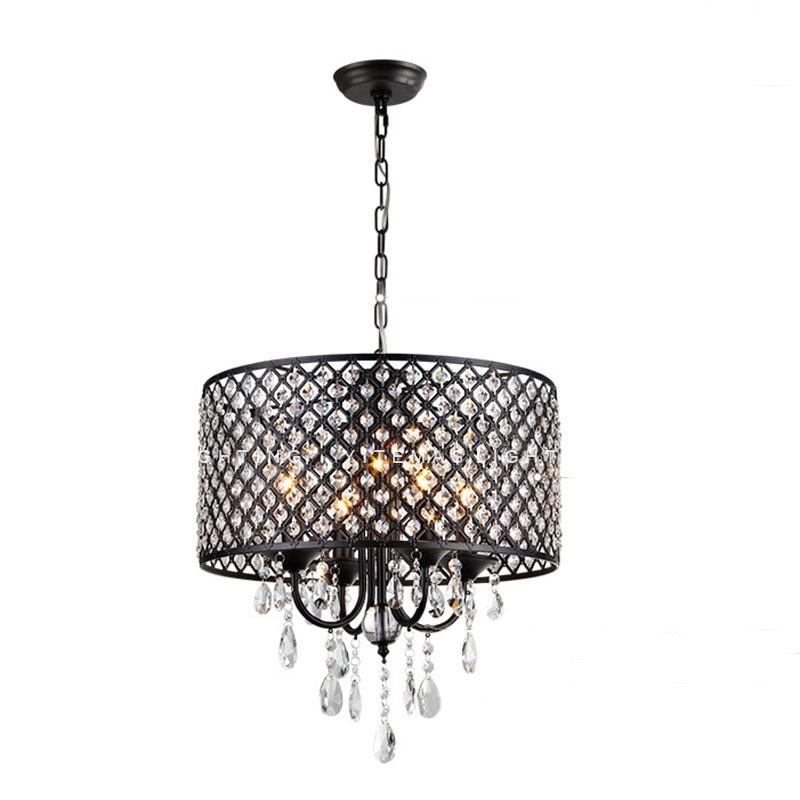 Black Luxury Crystal Chandelier Dining Room Bedroom Hanging Lights  Suspended Nordic Art Deco Light Fittings Europe French Design