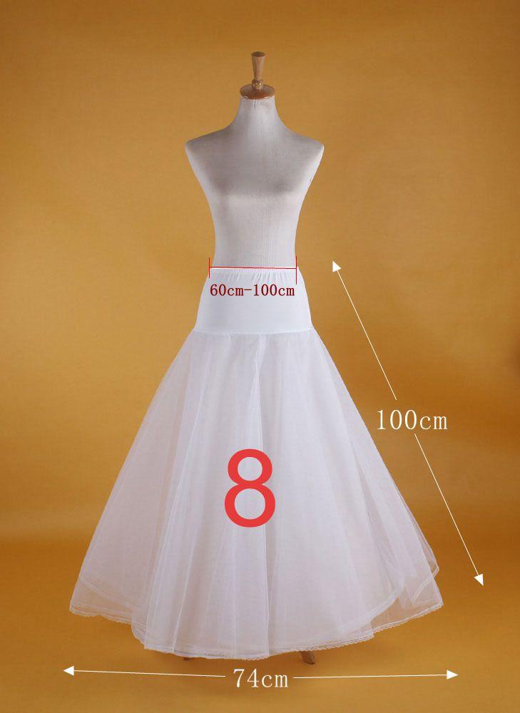 2019 New Hot Sell Bridal Wedding Petticoat Hoop Crinoline Prom Underskirt Fancy Skirt Slip 5