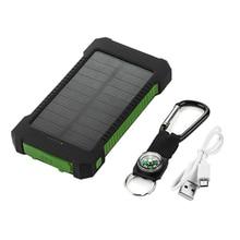 1 шт. Солнечный светодиодный 50000 мАч Внешний аккумулятор зарядное устройство чехол Комплект DIY водонепроницаемый двойной USB+ без батареи