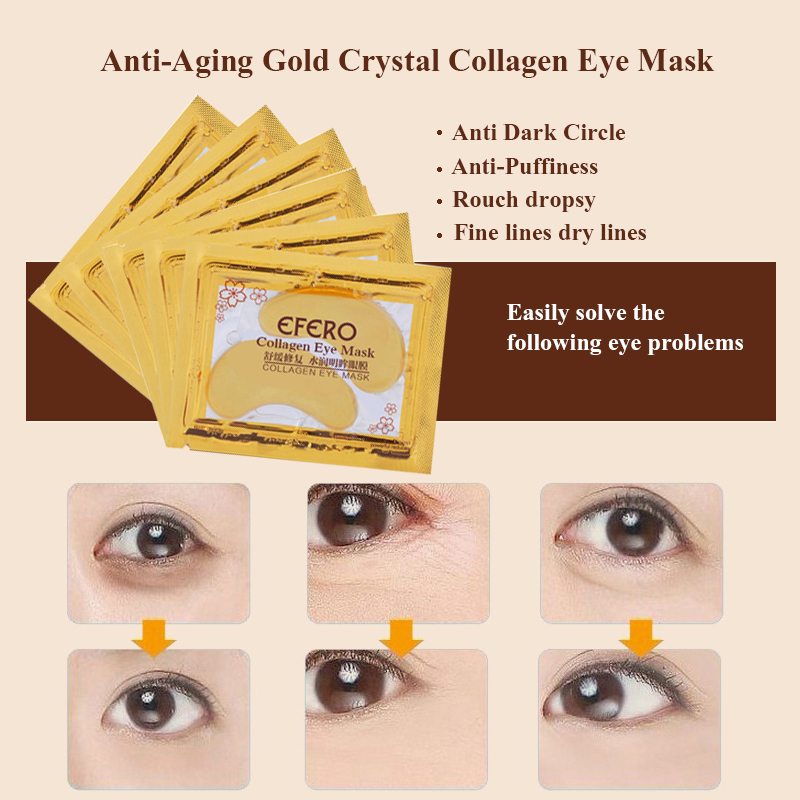 Crystal Collagen Eye Mask Antiaging Anti Puffiness Dark Circle Anti Wrinkle Moisture Eye Patches For Face Care Eye Mask Eye Pads