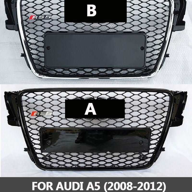 2008-2012 Griglie Per Audi A5 S5 ABS Verniciato Nero Telaio Della Maglia Della Griglia di Auto RS5 Berlina/Coupé/ convertibile