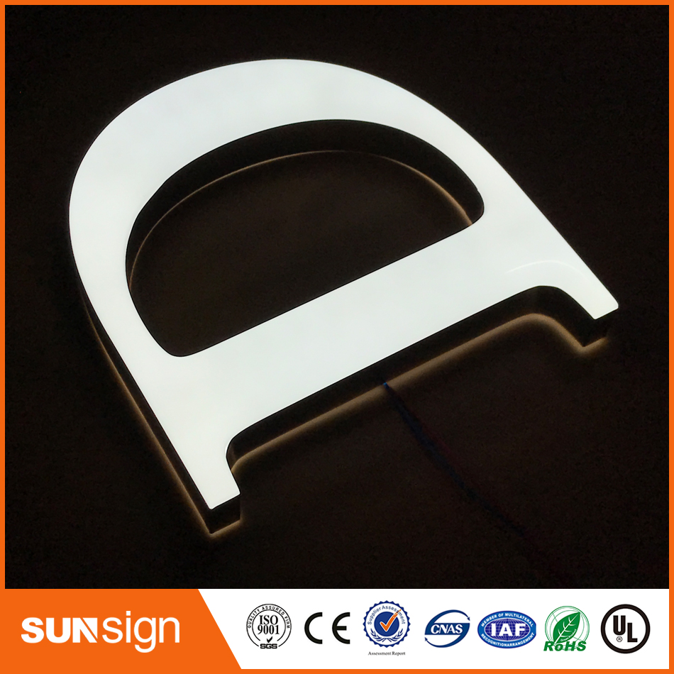 3D Customized LED Acrylic Face Lighting Letter Signs