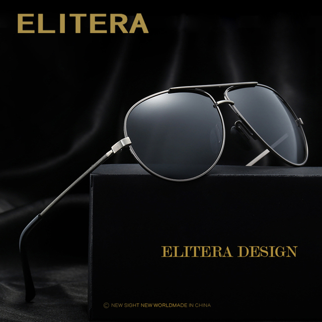 cbf1679d4a315 ELITERA Classic Brand Men Sunglasses HD Polarized Driving Travel Fishing  Sun glasses Men Luxury Shades UV400 Eyewear Oculos
