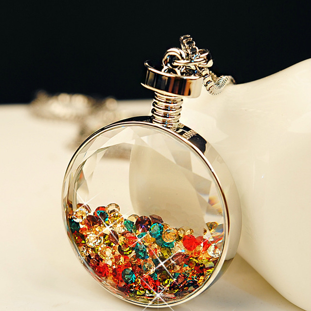 oil jewelry blown empty essential charms necklace glass bottles for assorted pendant bottle miniature jewellery hand vial
