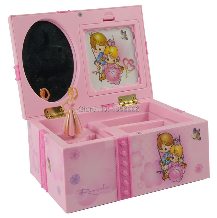 Dream Girl Music Box Childrens Musical Jewellery Box Rectangle with