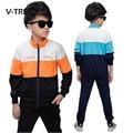 V-tree meninos conjuntos de roupas crianças terno conjuntos de roupas esportivas para o menino adolescente da escola dos miúdos crianças agasalho 8 10 12 anos