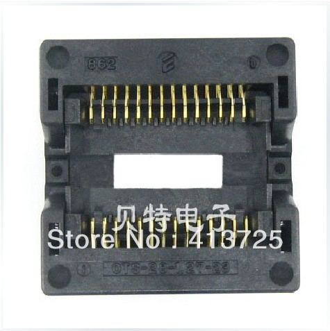 Imports of IC test seat SOP28 adapter adapter programming OTS-28-1.27-23 import ots 28 0 65 01 burning seat tssop28 test programming