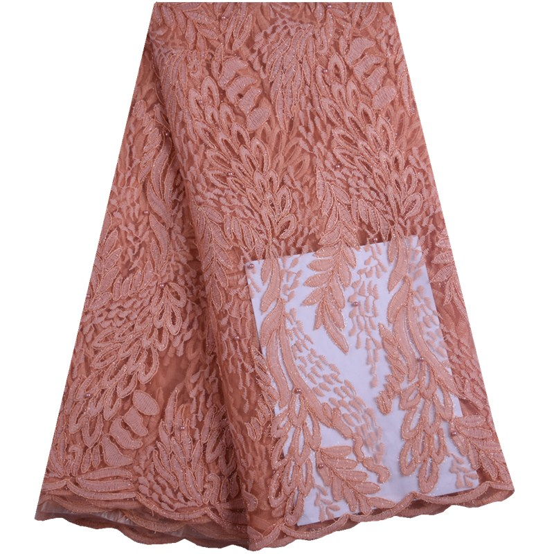 Venta caliente tela de encaje de tul francés 2019 tela de encaje nigeriano de alta calidad bordado tela de encaje africano para vestido de fiesta A1576-in encaje from Hogar y Mascotas    1