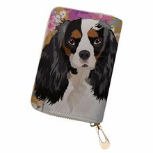 Noisydesigns colorful dog gorjuss Mini Wallet Male Card Holder Cover Card Bag ladies card Ticket Credit Case Pouch gorjuss bag(China)