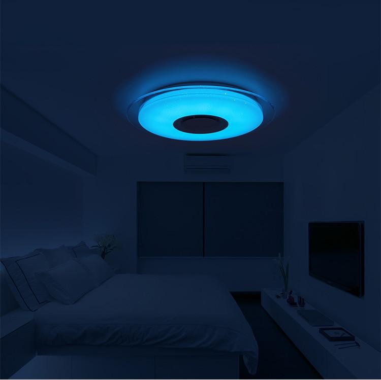 HTB1v4gobeL2gK0jSZFmq6A7iXXav Smart led ceiling Light RGB Dimmable 25W 36W 52W APP control Bluetooth & Music modern Led ceiling lamp living room/bedroom 220v