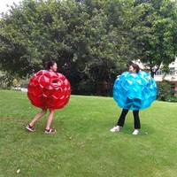 60CM Body Bumper Balls Bubble Soccer Suits LOT Environmentally Friendly PVC Funny Body Zorb Ball For Kids 2 Colors