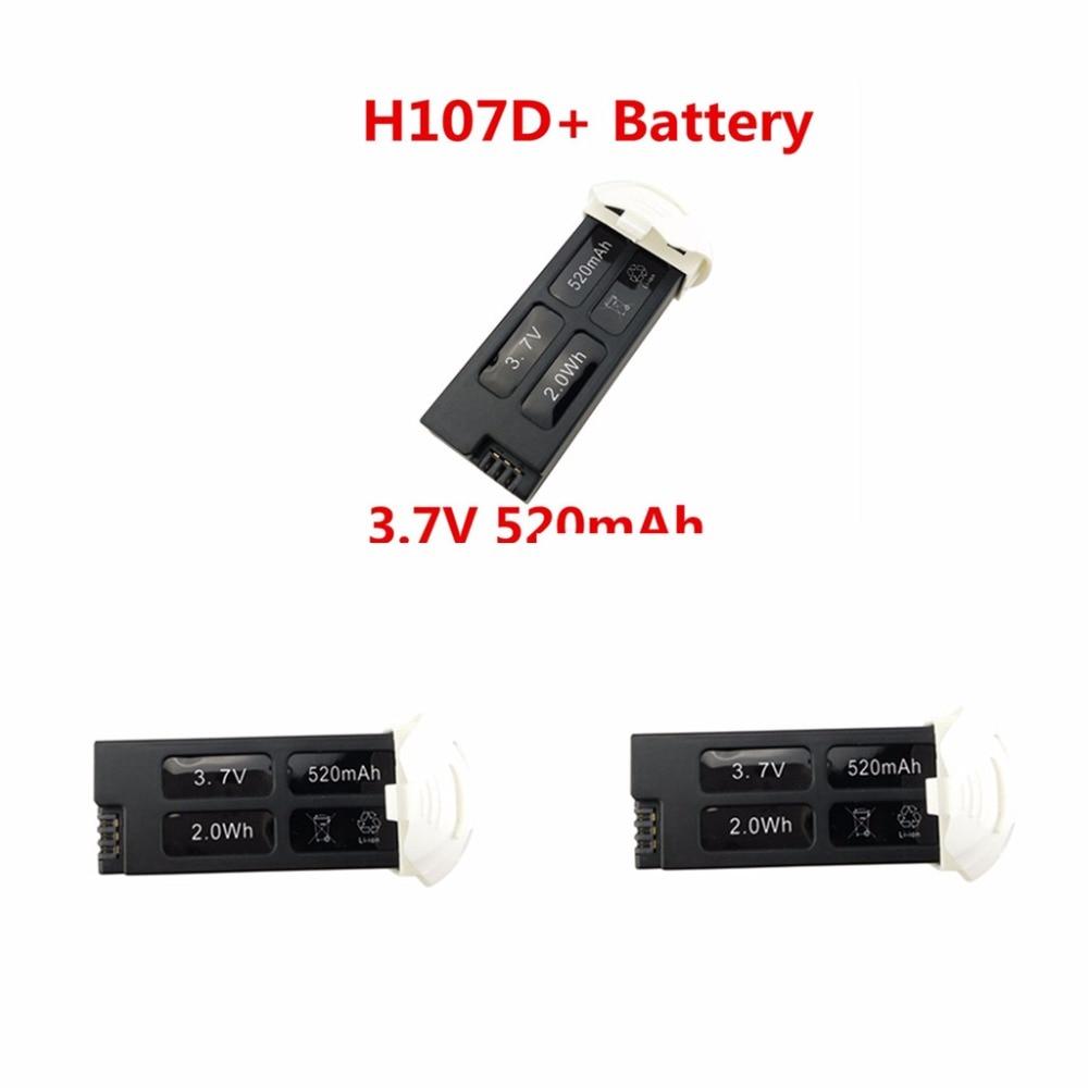 UAV Battery Accessories Lithium Battery 3.7V 520mah for 3PCS Hubsan FPV X4 PLUS H107D +