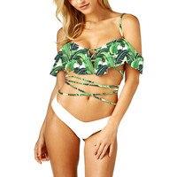 Bathing Suit Beachwear Women Bikini Swimsuits With Shorts Brazil Biquini Swimwear For Girls Floral Sexy Swim
