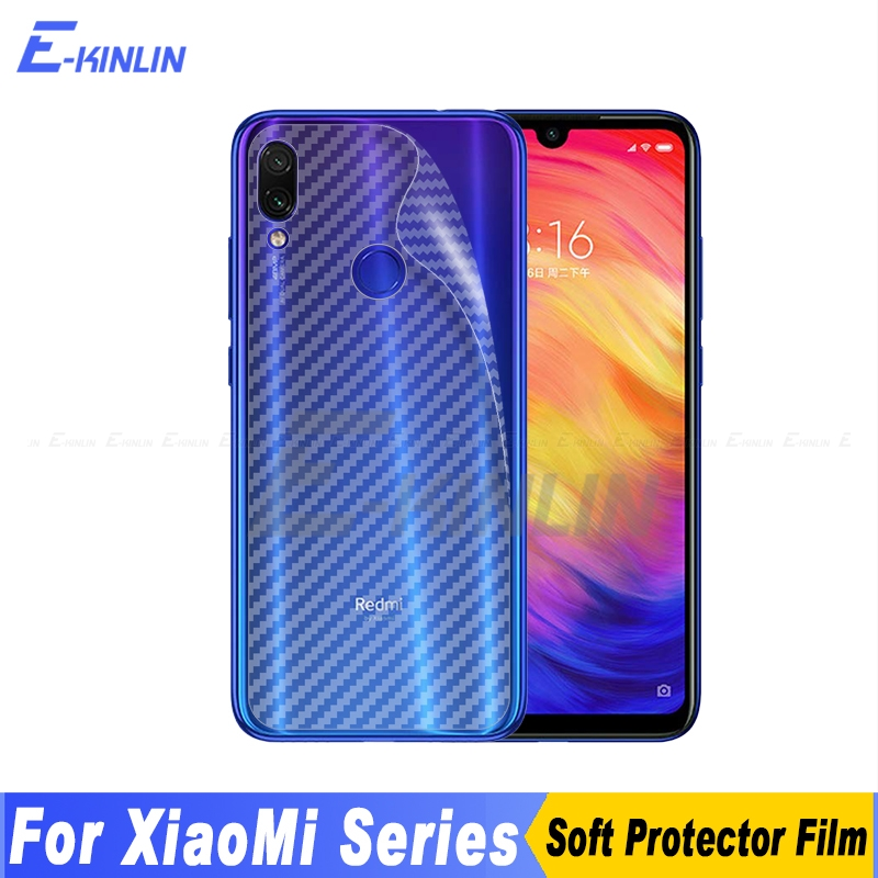 3D Carbon Fiber Back Cover Screen Protector For Xiaomi Mi 10 9 8 6 Redmi Note 8T 7 Pro 9S Max Sticker Protective Film Not Glass(China)