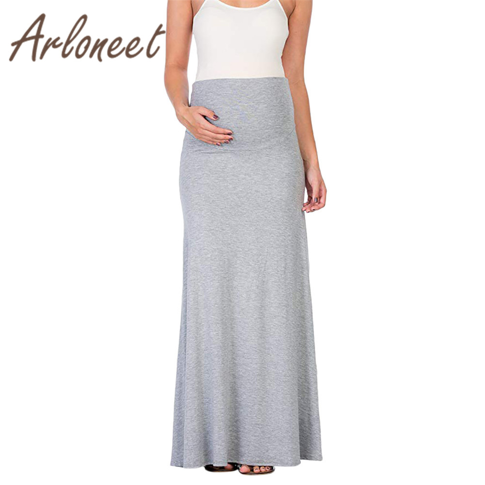 718783c307e3d ARLONEET Clothes Sexy women maternity Skirts Solid Soft casual skirt Large  size 5XL Summer Party ladies
