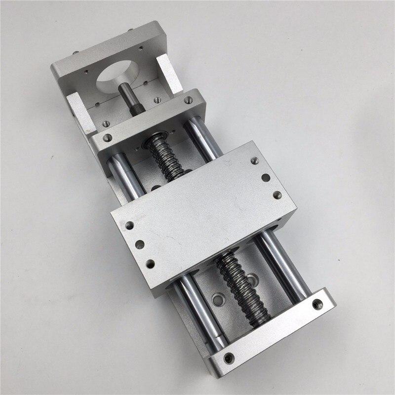 200MM Linear Module Sliding Table 1Axis Motion Actuator Cross Slide Linear Stage SFU BallScrew C7 & NEMA23 34 Stepper Servo Base