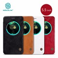 ze552kl case Nillkin Vintage PU Leather Case flip cover with smart view window For asus zenfone 3 ze552kl case phone bags 5.5''
