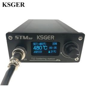 Image 2 - KSGER OLED Soldering Station T12 ILS Electronic Iron Tools STM32 2.1S Temperature Controller Handle Stand Holder 220V Welding