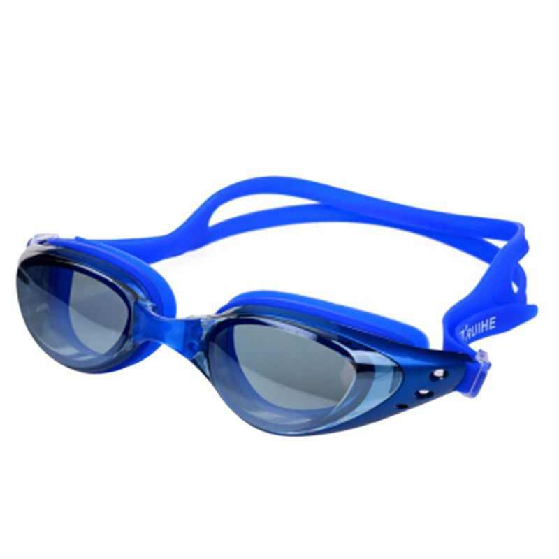 새로운 전문 안티-안개 자외선 조절 수영 고글 남성 여성 방수 실리콘 안경 성인 안경