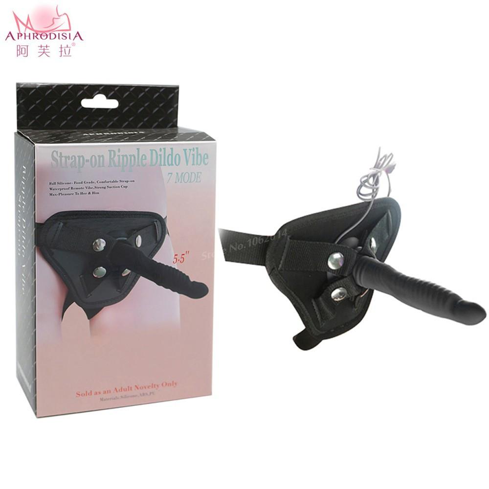 APHRODISIA 17 7 Mode real silicone erotic toys vibrators Vibrating Silicone Strap-On dildo vibrator for Couples anal Sex toys 4