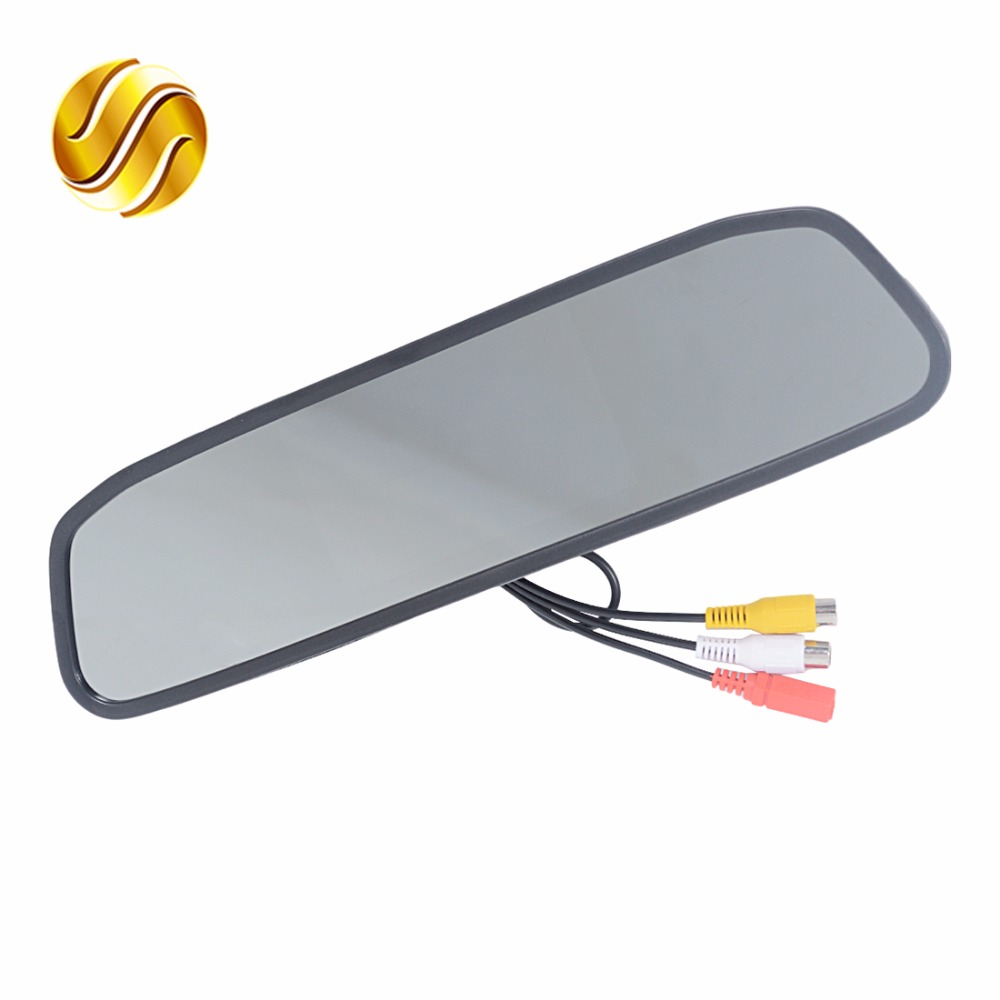HD Video Auto Parking Monitor Car Rearview Mirror Monitor 4 3 Inch Car Rearview Mirror Monitor