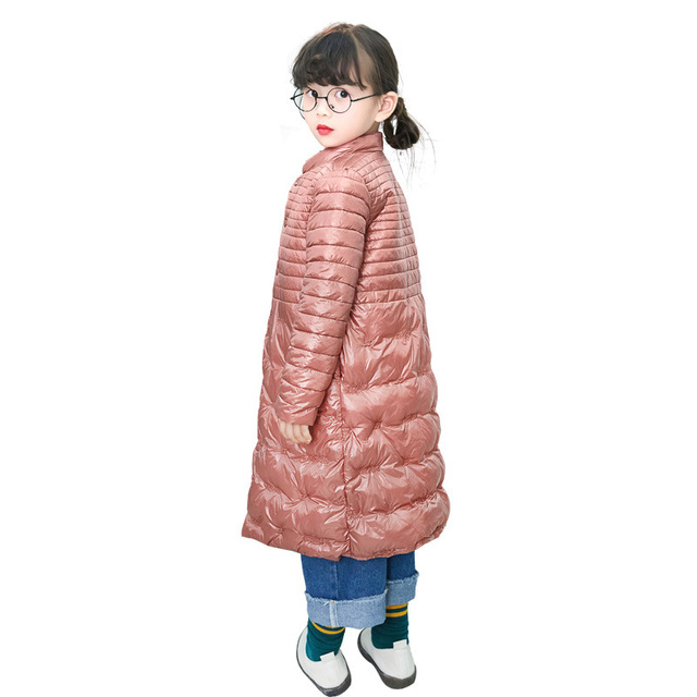 6165d1e79 2018 Autumn Winter New Children Cotton Coats Kids Long light Thin ...