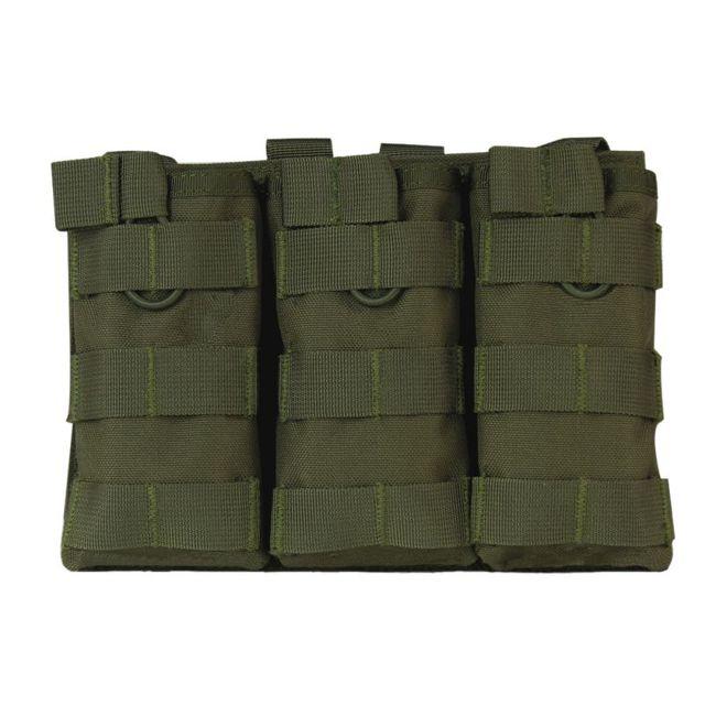 Caliente nuevo táctico MOLLE Triple Open-Top revista bolsa rápido AK AR M4 FAMAS Mag bolsa Airsoft Paintball militar equipo nuevo