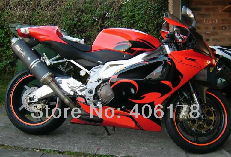 Hot Sales,Customized RSV1000R 03-06 body kit For Aprilia RSV 1000R 2003 2004 2005 2006 Leopard Red Motorcycle Fairings