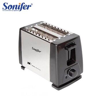 2 ломтика нержавеющей стальной тостер Автоматический быстрый нагрев хлеба домашний тостер для завтрака Sonifer >> SONIFER Official Store