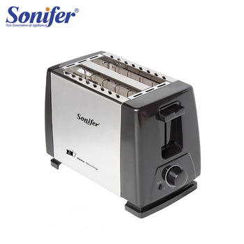 2 Slices Stainless steel toaster Automatic Fast heating bread toaster Household Breakfast maker Sonifer toaster