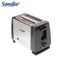 Sonifer tostadora automática de acero inoxidable para el desayuno, tostadora de pan de calentamiento rápido para el hogar, 2 rebanadas