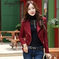 Korean version of the spring and autumn women 's new collar long - sleeved self - cultivation short jacket