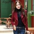 Versión coreana de la primavera y del otoño de las nuevas mujeres de cuello de auto-cultivo de manga larga chaqueta corta