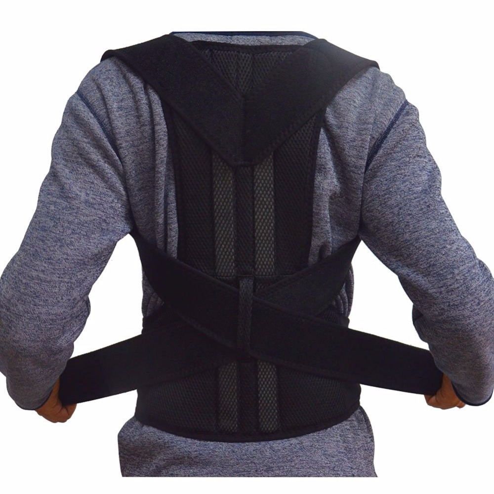 Adjustable Back Posture Corrector Brace Posture Support Correction Belt for Men Women Back Shoulder Support Belt Free Shipping aibikang steel posture corrector back brace and adjustable double pull shoulder back support belt xxl 52 black