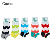 Goebel Man S Boat Socks Comfortable Fashion Shallow Mouth Socks Man Popular Wavy Pattern Male Short