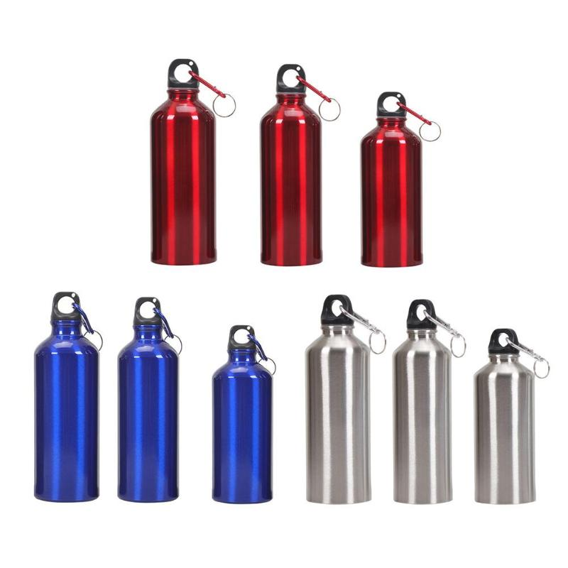 400/500/600ml Non-toxic Bike Sports Water Bottle Aluminum Alloy Portable Outdoor Drinking Kettle With Lid Outdoor Water Storage